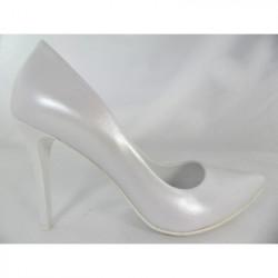 Toria Blanic 207 biała perła ślubne czólenka