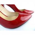 Toria Blanic 207 czerwone lakierowane czólenka