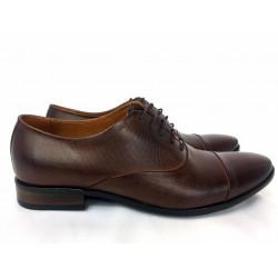 Lavaggio 1601  brązowe skórzane męskie pantofle