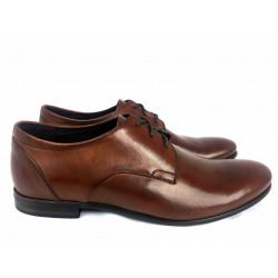 Wizytowe  brązowe oksfordy skórzane męskie pantofle Pilpol 1604