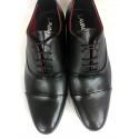 Wizytowe Kris 1010 szare męskie pantofle