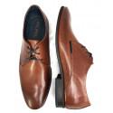 Elegnackie brązowe skórzane męskie pantofle wizytowe  Pilpol 1607