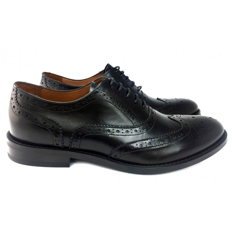 5a25eaec Wizytowe czarne oksfordy skórzane męskie pantofle Pilpol 1666 ...