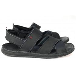 Wizytowe  gładkie czarne oksfordy skórzane męskie pantofle BLACK 427