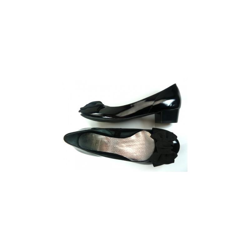 Toria Blanic 221 czarne lakierowane baleriny