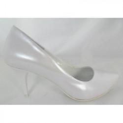 Toria Blanic 912  białe perłowe czółenka