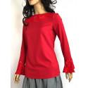 Śmietankowa elegancka bluzka z haftowaniem IMPERIAL GIPA