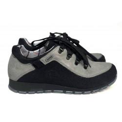 Trekkingowe sznurowane czarne buty damskie NIK 0622