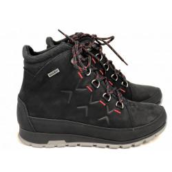Trekkingowe sznurowane czarne buty damskie NIK 0622-01-03