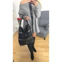 Torebka damska czarna klasyczna LAUREN  A4