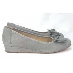 Rude miodowe zamszowe buty na koturnie PARES GAMIS  3605