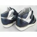 Karino 1652 niebieskie metaliczne sportowe sneakersy