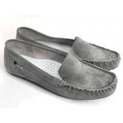 NESSI Mokasynki damskie camel skórzane buty 17130 (194)