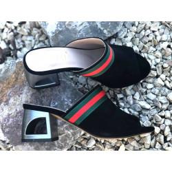 SImen 6812 sandały czarne skóra