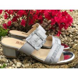 SANDAŁKI szare na niskim obcasie buty GAMIS  3661