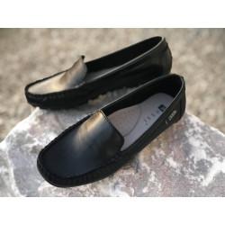 NESSI Mokasynki damskie czerwone skórzane buty 17130