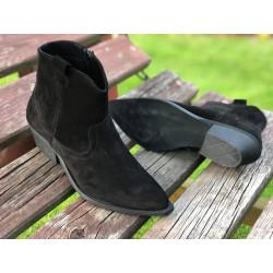 Oryginalne Kowbojki SIMEN 2264 czarne z dzetami model i stylowe