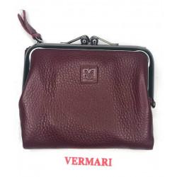 Skórzany czerwony portfel portmonetka VERMARI