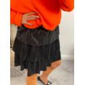 Bordowa plisowana spódnica GENUA
