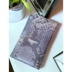 Pierre Cardin Vera Pelle skórzany różowy portfel damski
