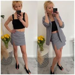 Spódnica w pipetkę Mini elegancka kratka