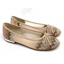 Sandałki srebrne sylikonowe błyszczące silver Scaviola G22