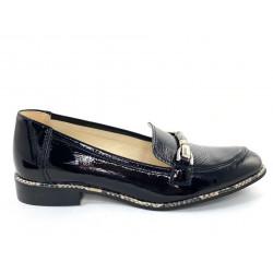 Mokasyny damskie zamszowe czarne  Gamis 3991
