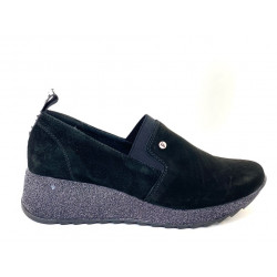 Sneakersy czarne skórzane Filippo 1388