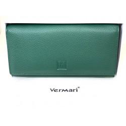 Portfel damski skórzany zielony Vermari 1501