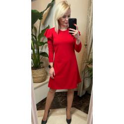 Sukienka czerwona z falbankami