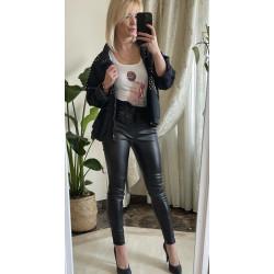 Spodnie damskie czarne leginsy Juk