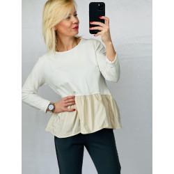 Bluzka biała z cekinami Cotton XS