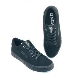 Trampki czarne jeansowe Big Star tenisówki męskie FF174066