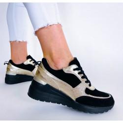 Sneakersy czarne adidasy skórzane Comfort FT-85