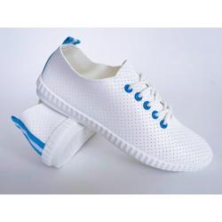 Ażurowe buty białe sznurowane Footwear 1825-2