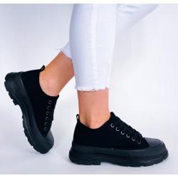 Białe trampki za kostkę sznurowane  buty sportowe Lejdis 122P