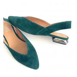Sandały damskie zielone skórzane Simen 2228