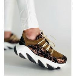 SNEAKERSY damskie  czarne skórzane buty SIMEN 3643