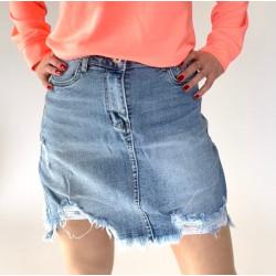 Jeansowa spódnica przecierana oryginalna