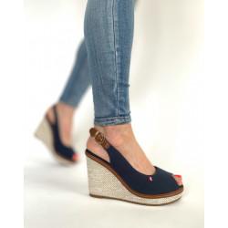 Sandały damskie  na koturnie beżowe  Seastar R132P