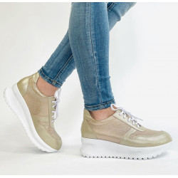 SNEAKERSY sport damskie  czarne skórzane buty 1943
