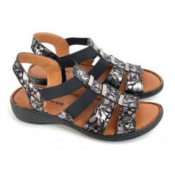 Sandały damskie  ażurowe pudrowe  Artiker 44C0687