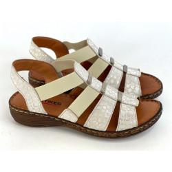 Sandały damskie z gumkami czarne  Artiker 46c2373