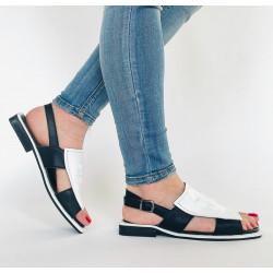 Sandały damskie  ażurowe białe Artiker 44C0689