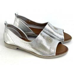 Sandały damskie  ażurowe srebrne Artiker 44C0696