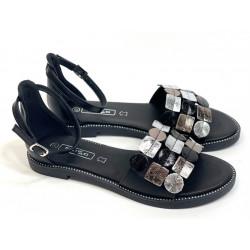Sandały damskie czarne skórzane Filippo 1286