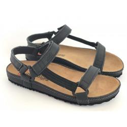 Sandały  beżowe ze skóry naturalnej NIK 0370