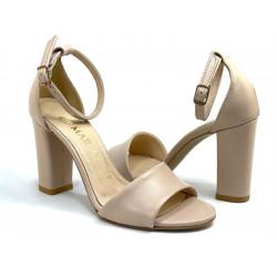 Sandały damskie na obcasie skórzane Mariaż 2640