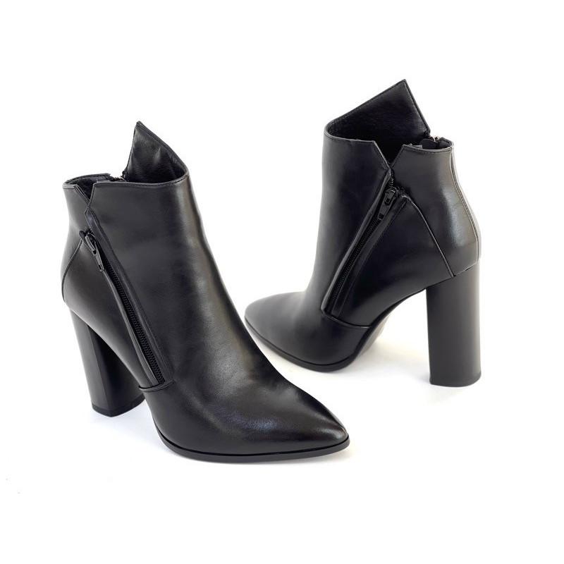 Sneakersy czarne skórzane Filippo 13170