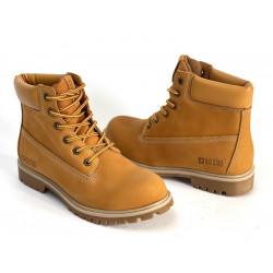 Trapery damskie czarne buty 3037